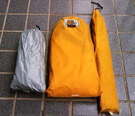 ゴアライト・テント収納サイズ
