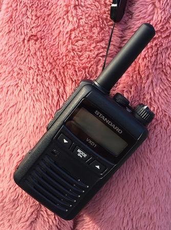 バーテックススタンダード社のデジタル簡易無線機VXD1
